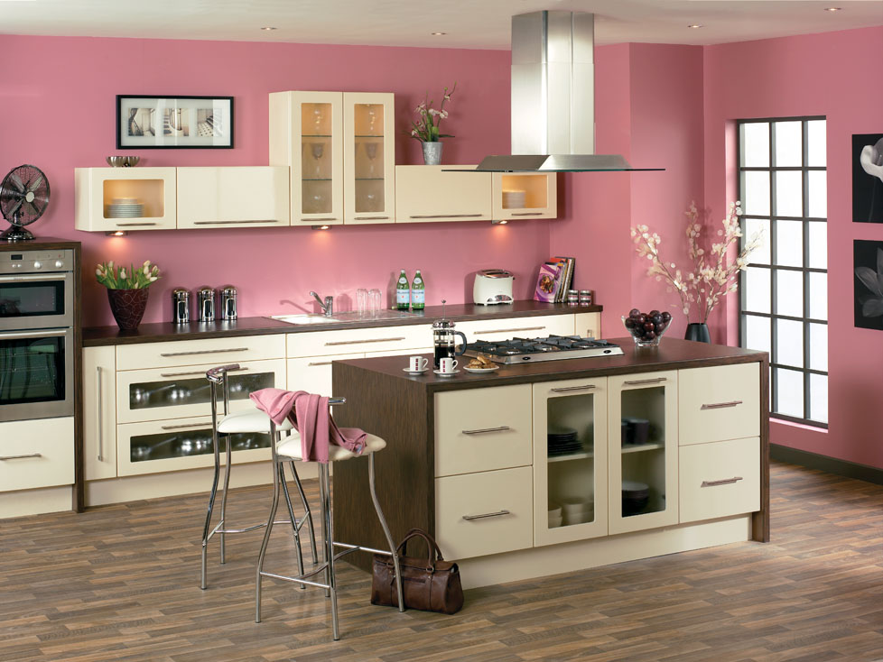 Duleek High Gloss Cream Kitchen