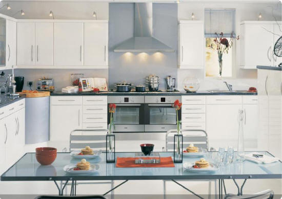 Lincoln High Gloss White Kitchen
