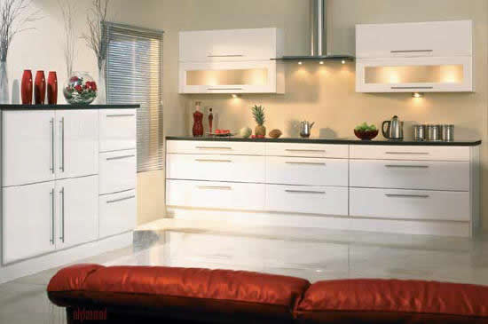 Saponetta High Gloss White Kitche